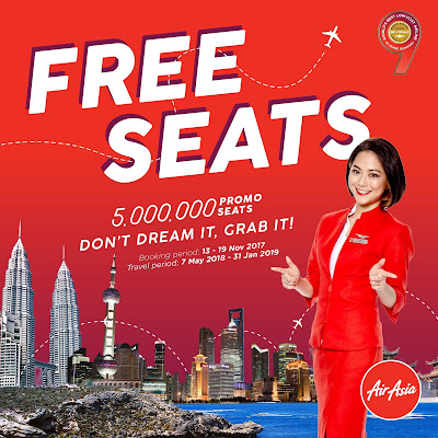 AirAsia Free Seats Promo Ticket Price List