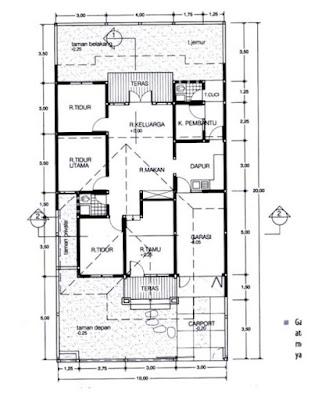 """Gambar Denah merupakan salah satu bagian terpenting dari suatu gambar konstruksi. Denah berasal dari kata latin """"planum"""" yang berarti """"dasar"""".  Lebih jauh diartikan sebagai lantai atau tempat dimana kita berpijak. Gambar denah sebenarnya adalah gambar potongan suatu bangunan dalam bidang datar dengan ketinggian antara ±80-100 cm di atas lantai normal (lantai yang mempunyai ketinggian dari titik duga ±0.00)."""