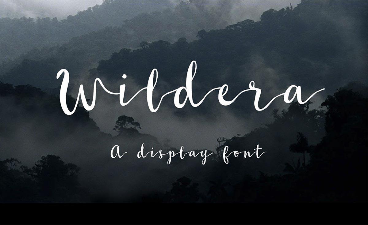 Font gratis terbaru - Wildera