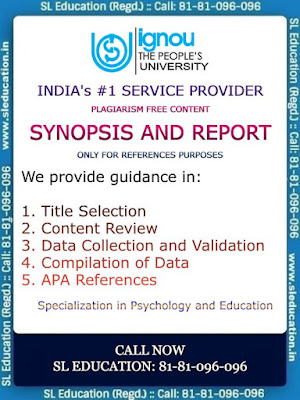 #IGNOU #Plagiarism #free #content for #psychology, #education and many more #subjects. #SL #Education provides you the #one #multi #solution #center. We #sharpen the #knowledge and provides a #better #view to the #students. #Call: 81-81-096-096 or #drop a #whatsapp #message. We will contact you within 30 minutes.