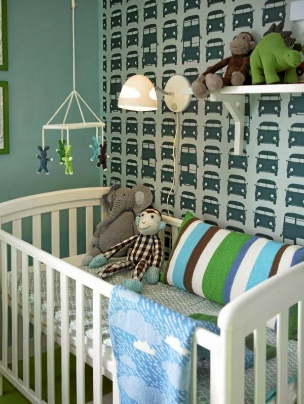 Habitaciones de beb con papel pintado dormitorios - Habitacion bebe papel pintado ...