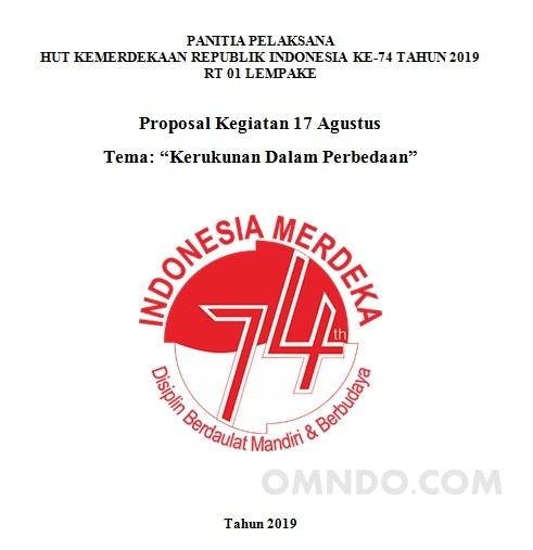 Contoh Proposal 17 Agustus Tingkat Rt Omndo Com