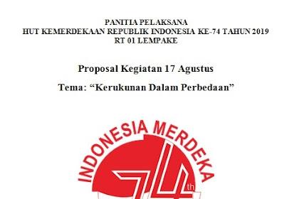 Contoh Proposal 17 Agustus Tingkat RT