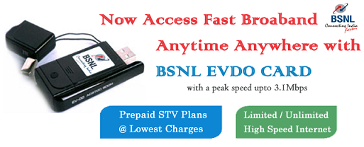 BSNL EVDO STV Plans Tariff