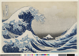 The Great Wave painting