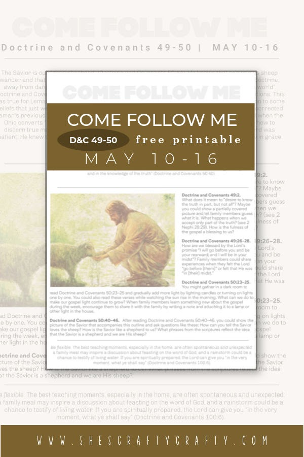 Come Follow Me Weekly Printable May 10-16 Pinterest Pin.