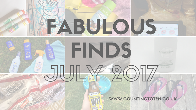 A collage showing all 9 fabulous finds for July 2017 as detailed below