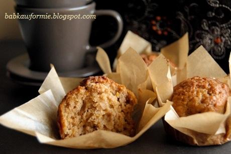 korzenne muffiny muffinki z dynią i miodem babkawformie.blogspot.com