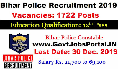 Bihar Police Constable Driver Vacancy 2019 - Govt Jobs for