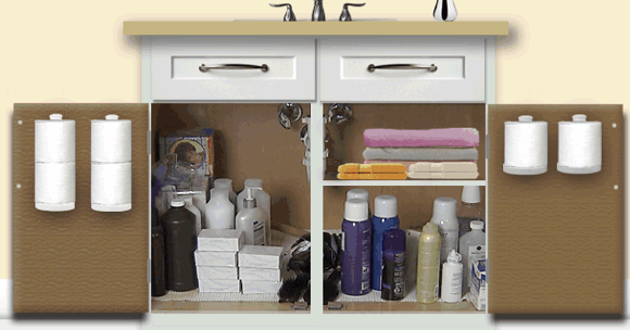 Cabinet Door Mounted Kitchen Wrap And Bag Organizer Storage Rack