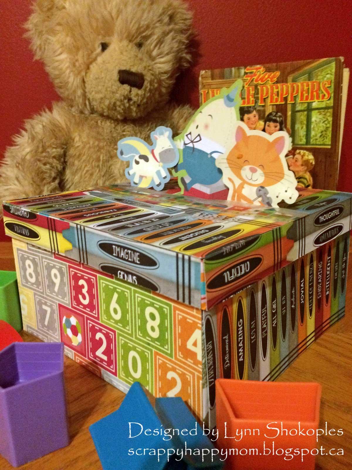 Modern Toy Box Living Room: BoBunny: Altered Toy Box