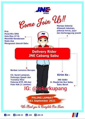 Lowongan Kerja JNE Cabang Sabu Sebagai Delivery Rider