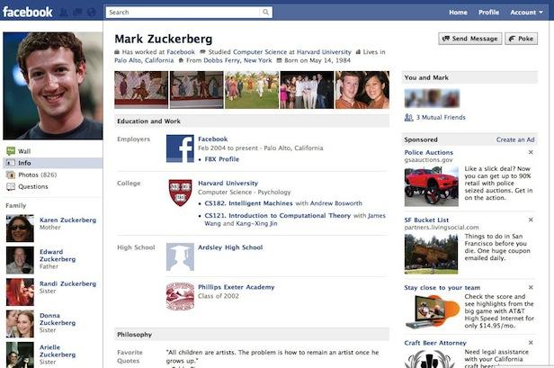 Evolusi Desain Facebook tahun 2010