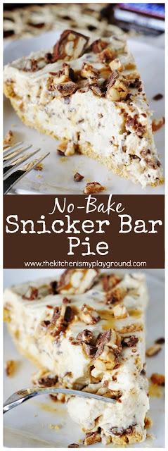 NO-BAKE SNICKER BAR PIE