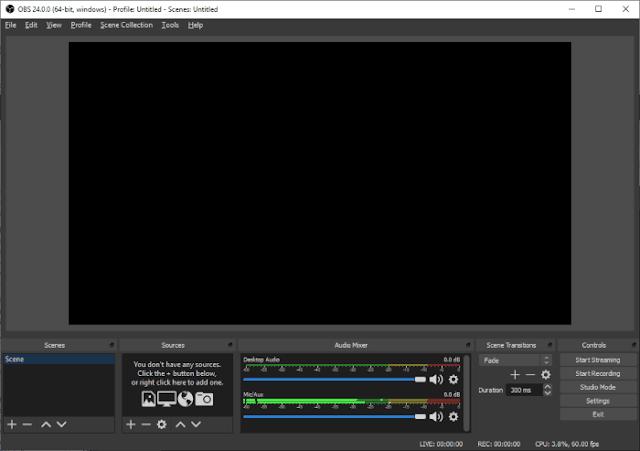 اوبس ستوديو لعمل البث المباشر