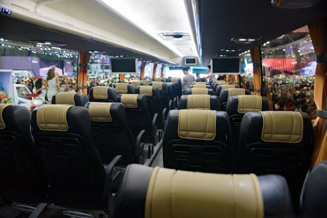 Khoang hành khách Scania A50 đẳng cấp giống như đang ngồi trên khoang máy bay Boing