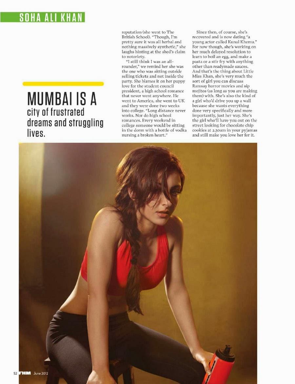 Soha Ali Khan's FHM India June 2012 Magazine Scan