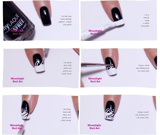 Easy Black and White Nail Art Design Tutorial