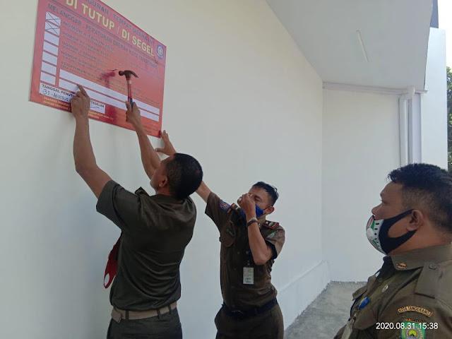 Alfa Mart Tidak Memiliki IMB, di Segel Satpol PP Kota Tangerang, Foto Istimewa Korantangsel.com