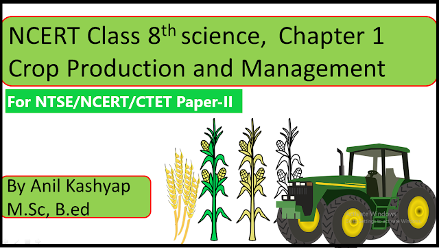 Crop Production and Management, Chapter:1, NCERT Class 8th science, free NCERT Notes, www.educationphile.com, CTET Paper 2, CTET TGT, Free notes of crop production and management