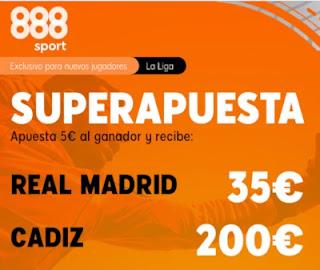 888sport superapuesta Real Madrid vs Cadiz 17-10-2020