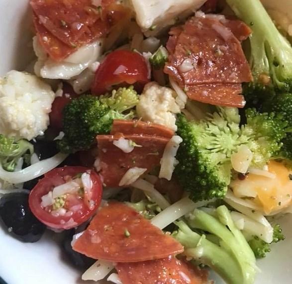 Keto No Pasta – Italian Pasta Salad #healthydiet #lowcarb