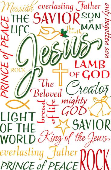 buy names of jesus christmas cards box of 20 - Jesus Christmas Cards
