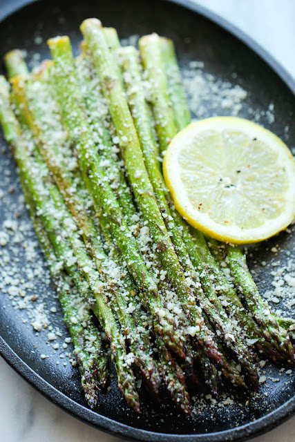 lemon pepper asparagus recipe | baked lemon pepper asparagus