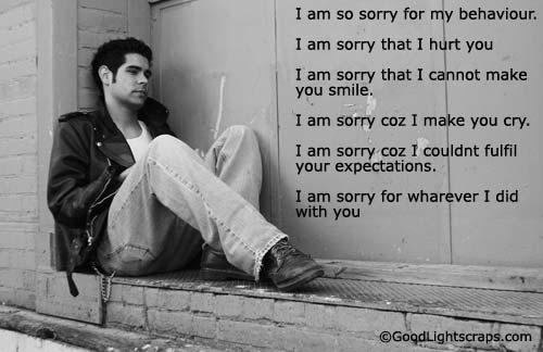 I am sorry quotes to girlfriend