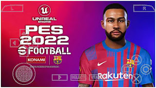 Download eFootball PES 2022 PPSSPP Camera PS4 Best Graphics HD V7.5 & New Latest Transfer