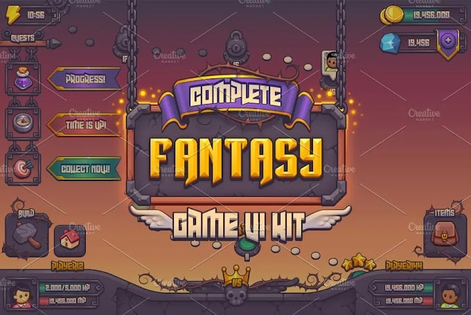 CreativeMarket Complete Fantasy Game UI kit 959421