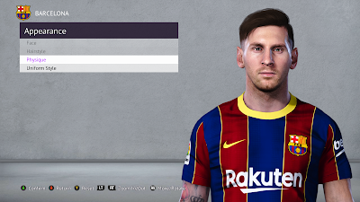 PES 2021 Faces Lionel Messi for PES 2020