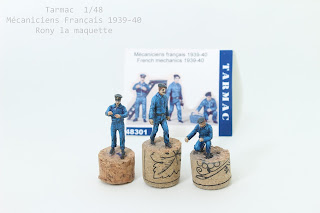 Figurine mécaniciens français 1939-40  Tarmac au 1/48.