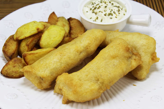 Fish and chips Jamie Oliver