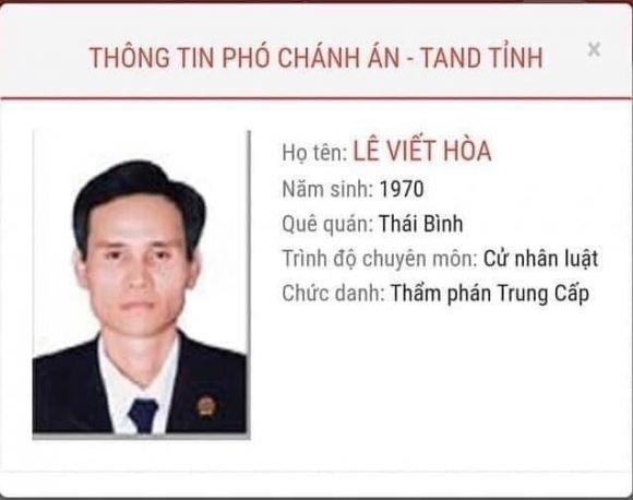 Chân dung Lê Viết Hòa – thẩm phán xét xử 2 vụ mà cả 2 bị cáo đều dùng cái chết để phản đối bản án