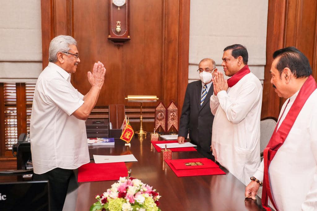 Basil Rajapaksha as  finance minister
