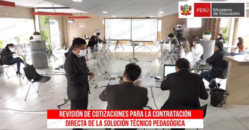 EN VIVO: Evaluación económica de postores al proceso de adquisición de tablets «Aprendo En Casa» MINEDU [VIDEO]