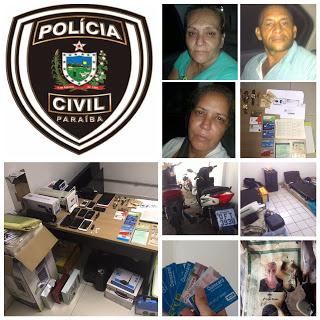 Operação da Policia Civil Prende Quadrilha de Estelionatarios em Sapé-PB