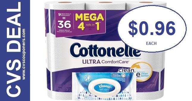 Cottonelle Bath Tissue CVS Deal 11-8-11-14