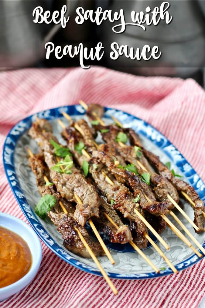 Grilled Beef Satay with Peanut Sauce