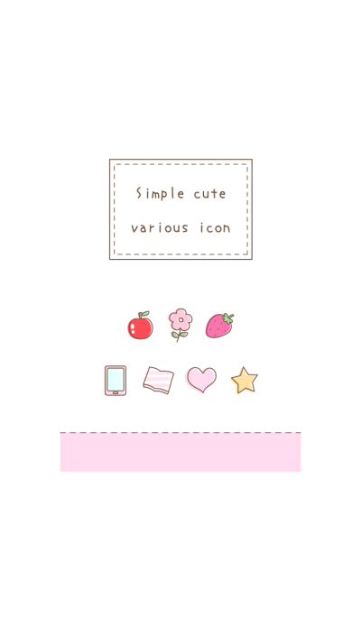 Simple cute various icon