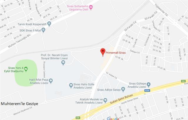 Primemall Sivas'a hangi otobüs gidiyor?