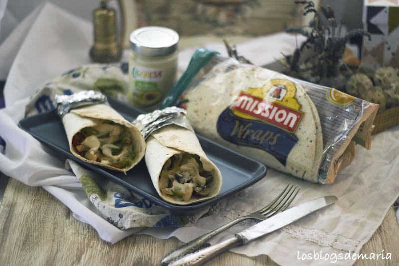 Wraps de pollo y verduras
