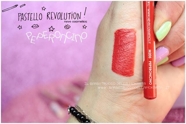 peperoncino swatches BioPastello labbra Neve Cosmetics  pastello revolution