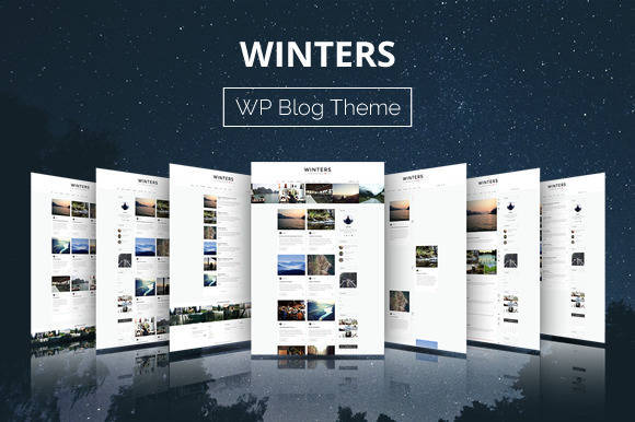Winters - WordPress Blog Theme - Blogging