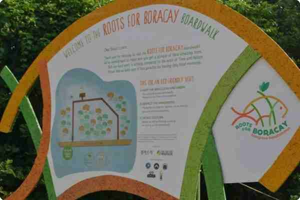 roots of boracay signage