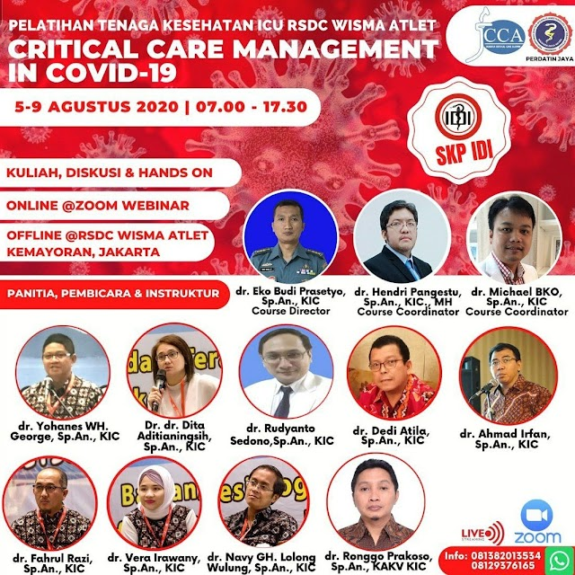 "Pekatihan Tenaga Kesehatan ICU RSDC Wisma Atlet ""Critical Care Management in Covid-19"""