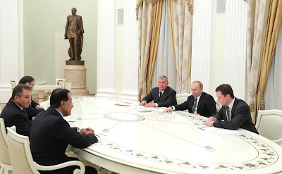 Vladimir Putin meeting with business