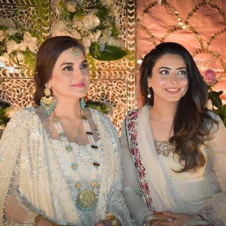 Kashmala Tariq with her husband Waqas Khan