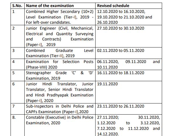 Re schedule exam